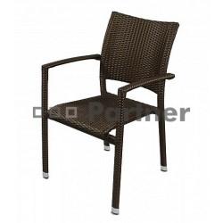 Záhradná stolička hnedá