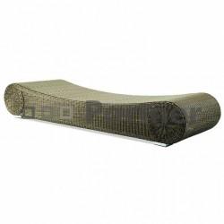 Rímska leňoška z umelého ratanu -šírka 77 cm