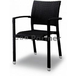 Záhradná stolička čierna