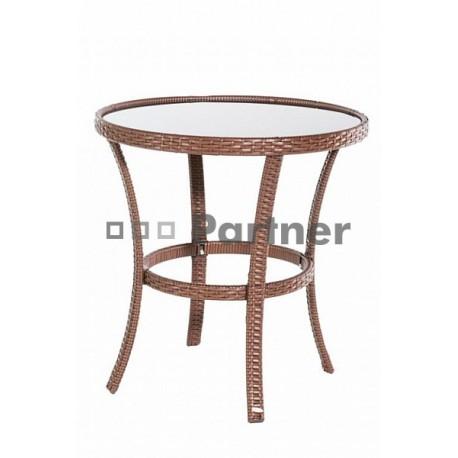 Zahradný stôl z umelého ratanu BERN (ø70 cm)