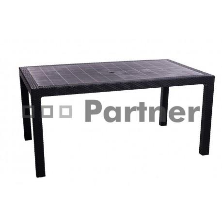 Záhradný stôl z umelého ratanu MANHATTAN 160 x 95 cm (antracit)