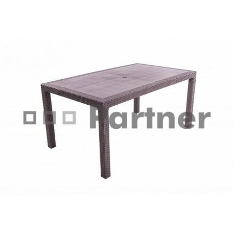 Záhradný stôl z umelého ratanu MANHATTAN 160x95 cm (hnedý)