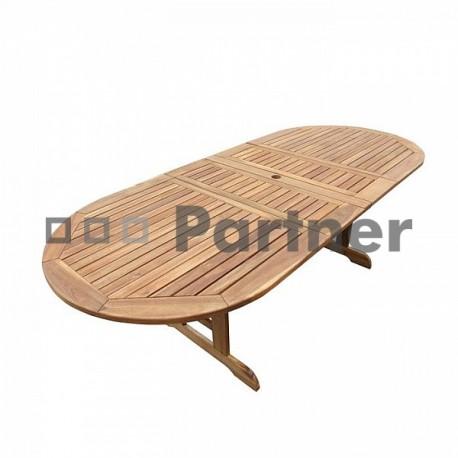 Záhradný oválny rozkladací stôl EDINBURGH
