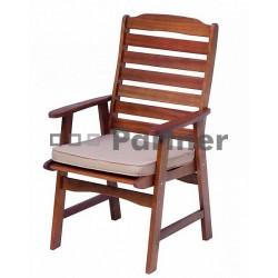 Záhradná stolička s poduškou ZARAGOZA