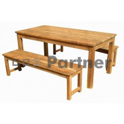 Záhradný stôl teak WELLINGTON
