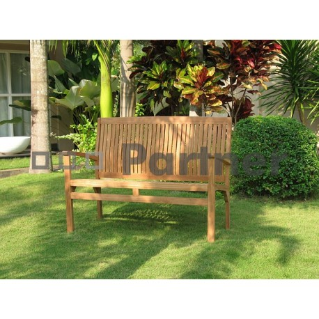 Záhradná teaková lavica HARMONY 120 cm