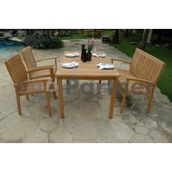 Záhradný pevný stôl obdĺžnik HARMONY 150x90 cm