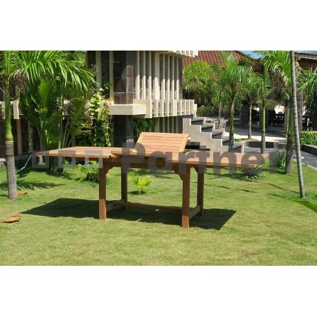 Záhradný obdĺžnikový stôl MONTANA 160/210 x 100 cm