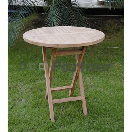 Záhradný skládací stôl IVORY ⌀ 80 cm