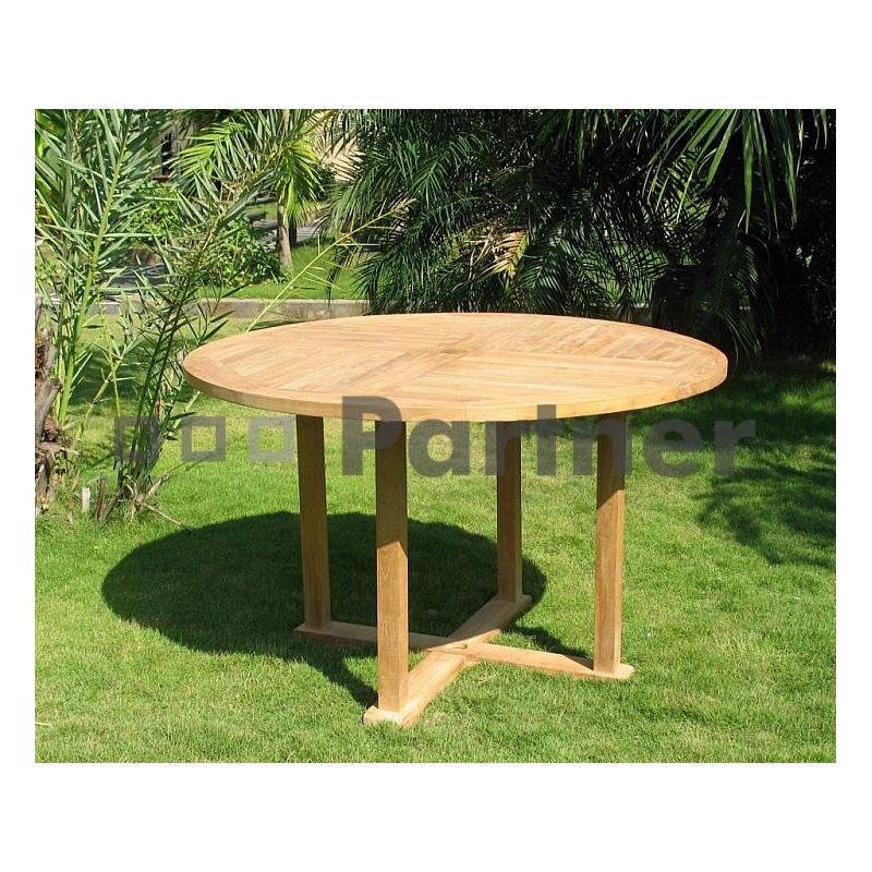 Teak gt záhradný pevný stôl argon ⌀ 100 cm