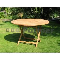 Záhradný skládací stôl EURA ⌀ 100 cm
