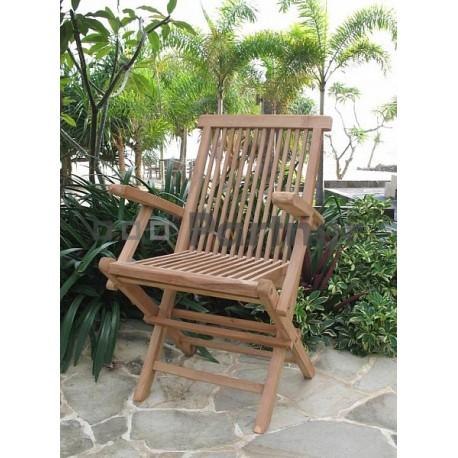 Záhradná skladacia stolička s opierkami IVORY